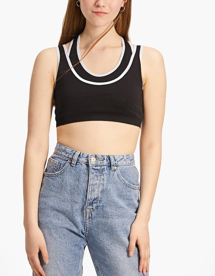 Racerback bralette with double straps
