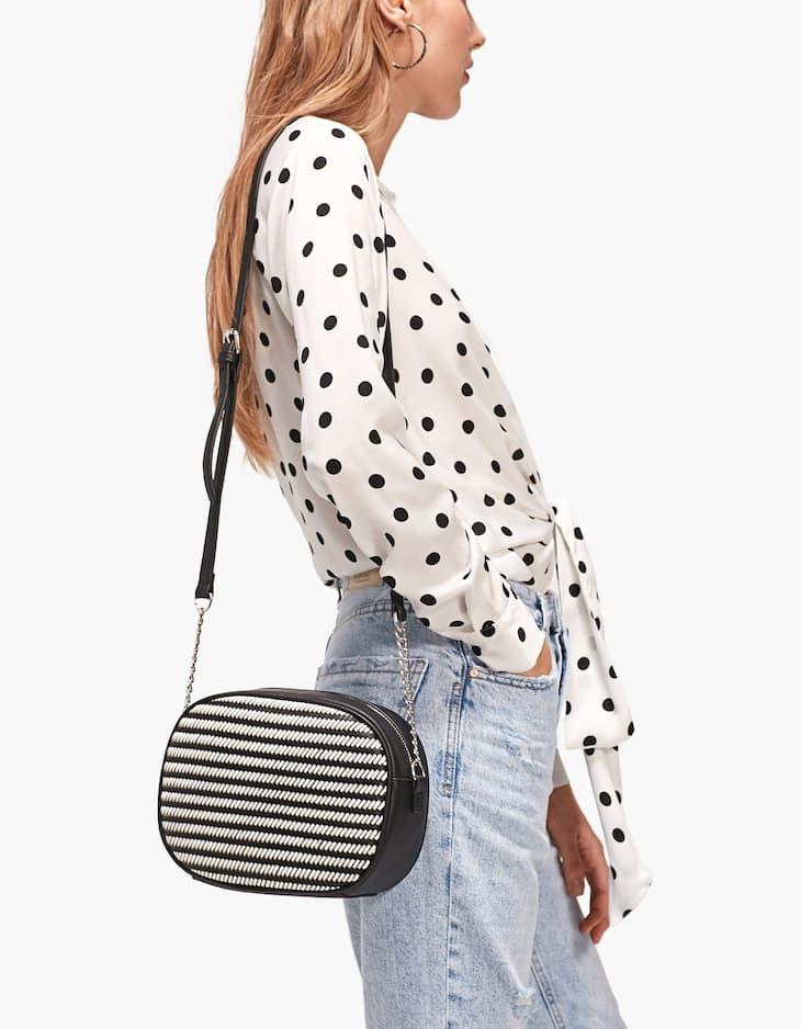 Braided crossbody bag