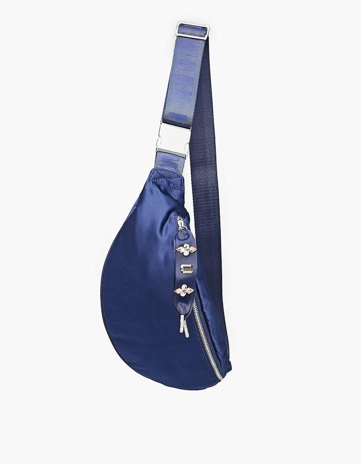 Поясная сумка из сатина с декоративной деталью