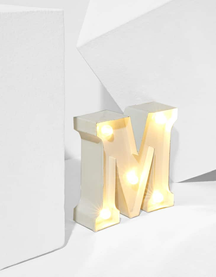 Small LED letter M