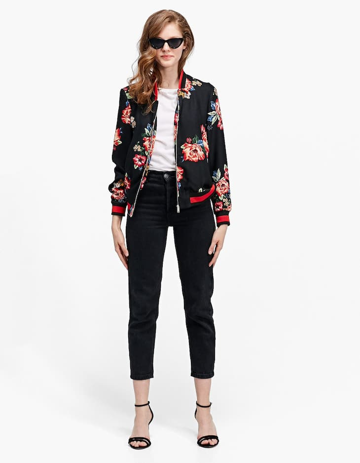 Bomber jacket with print
