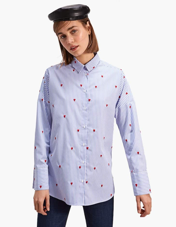 Shirt with all-over embroidered details