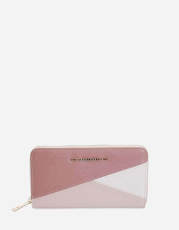 Embossed patchwork wallet