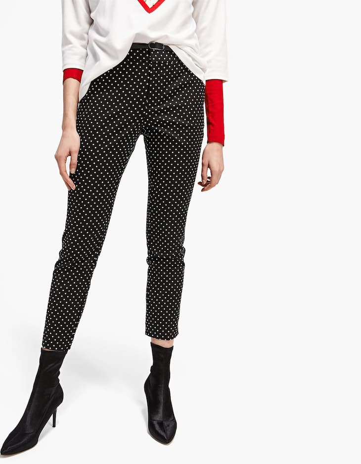 Smart trousers with printed belt