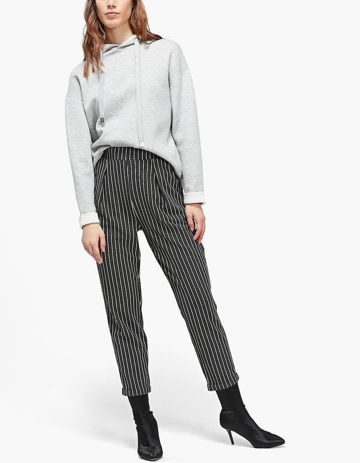 Knit carrot fit trousers
