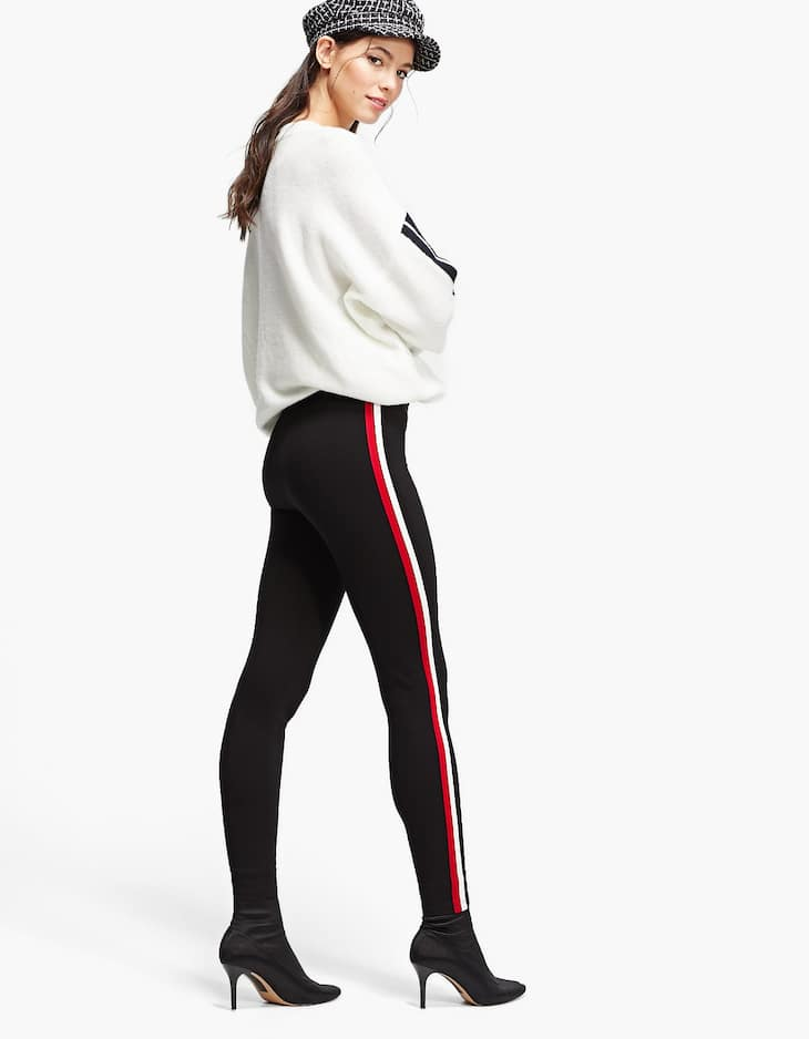 Leggings with double side stripes