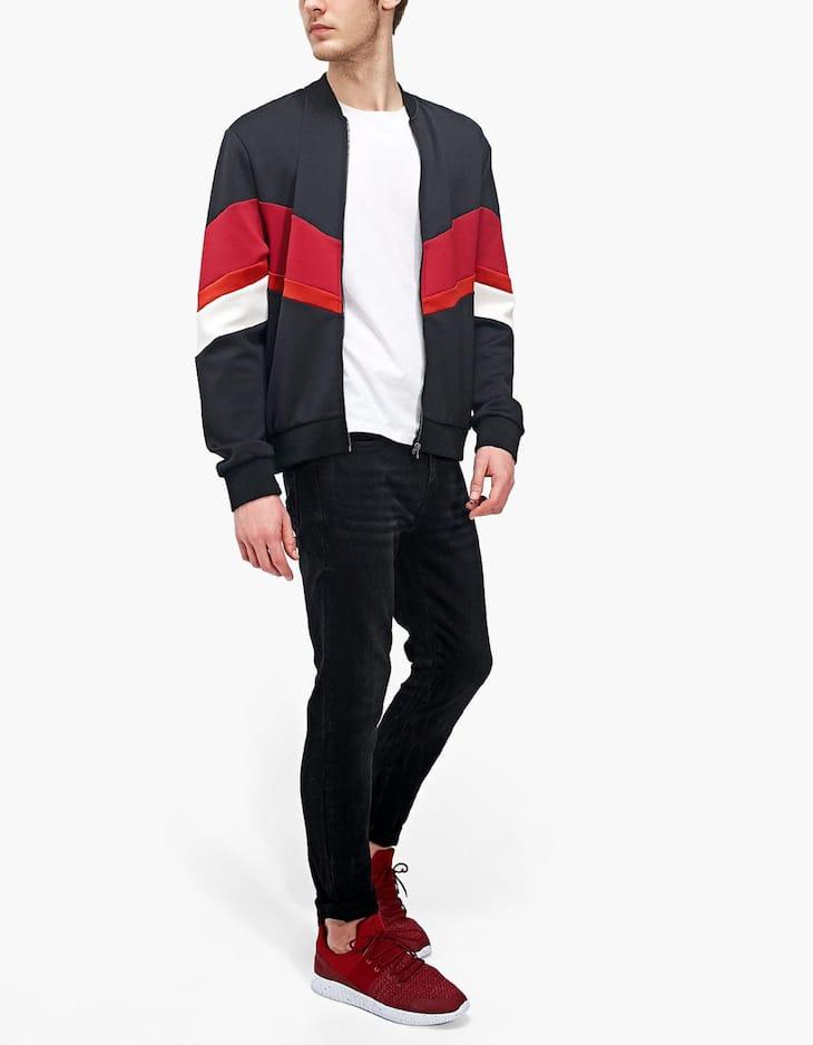 Scuba jacket color block