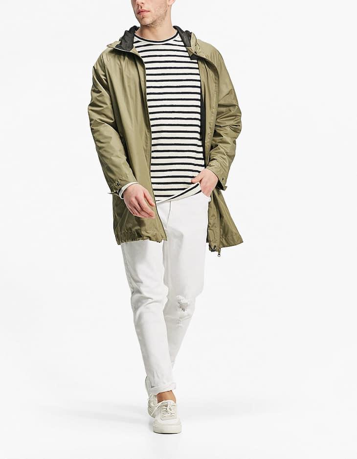 Striped terry cloth sweatshirt