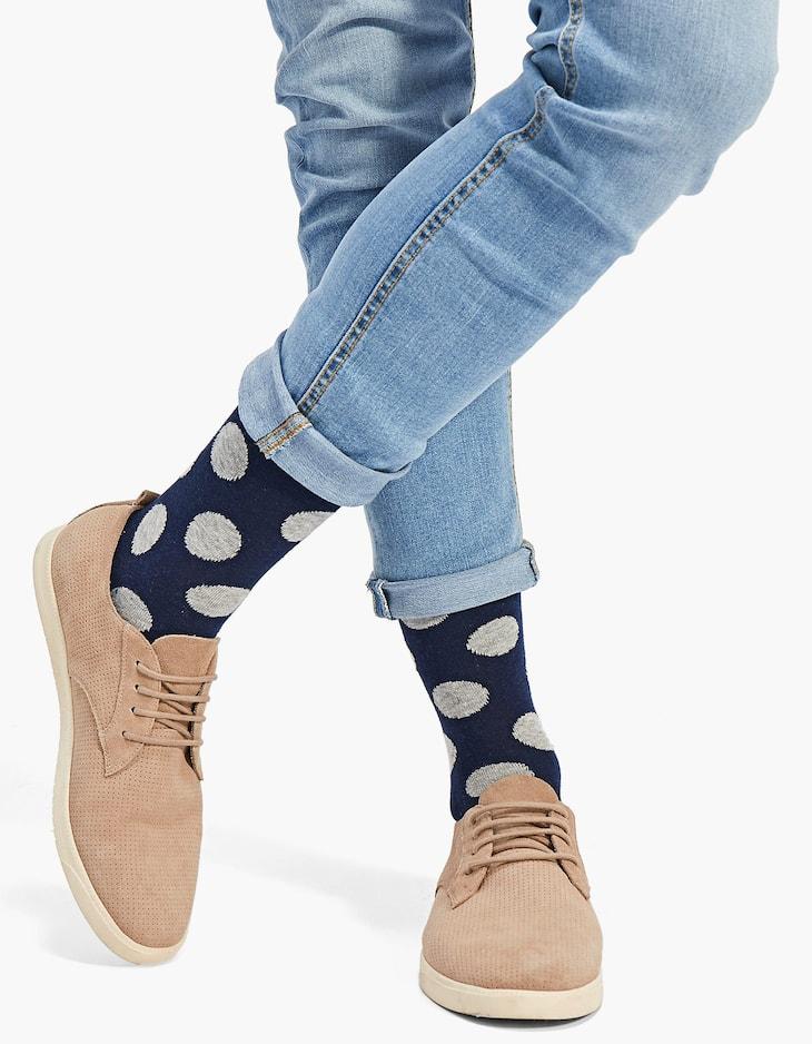 Lot 2 paires de chaussettes gros pois