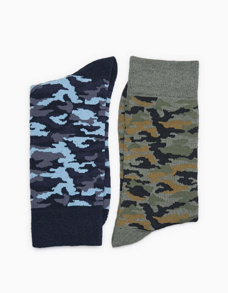 2-pack of camouflage socks