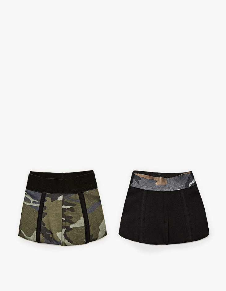 Pack of 2 camouflage boxers