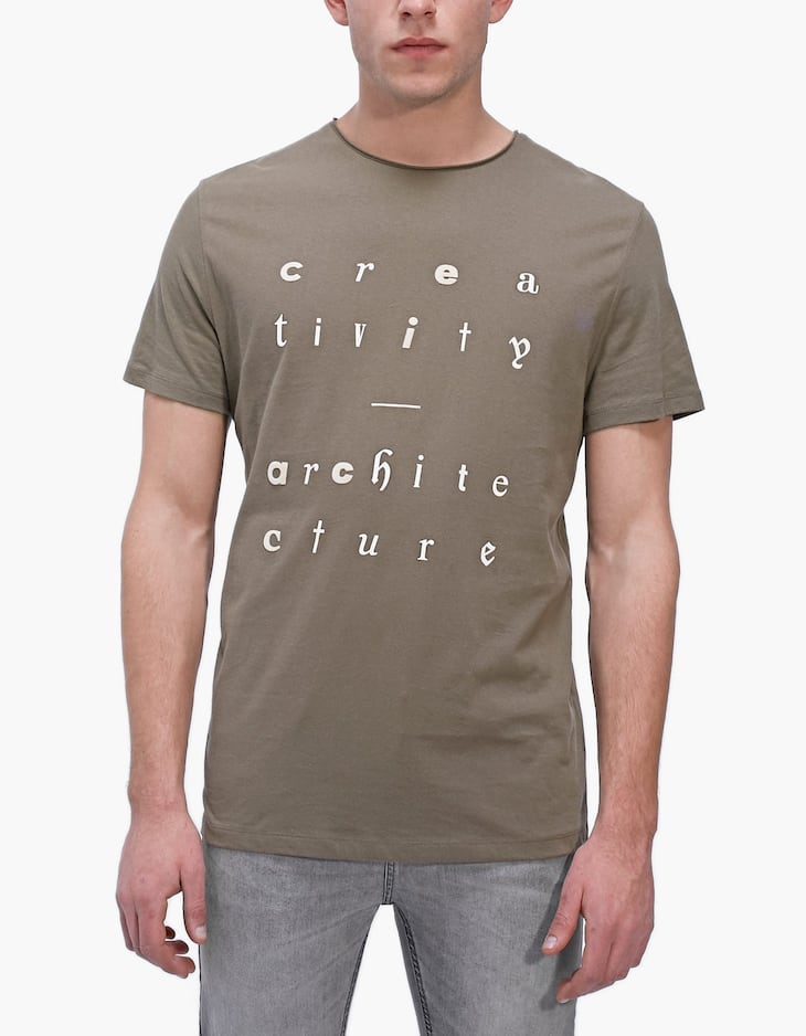 Printed lettering T-shirt
