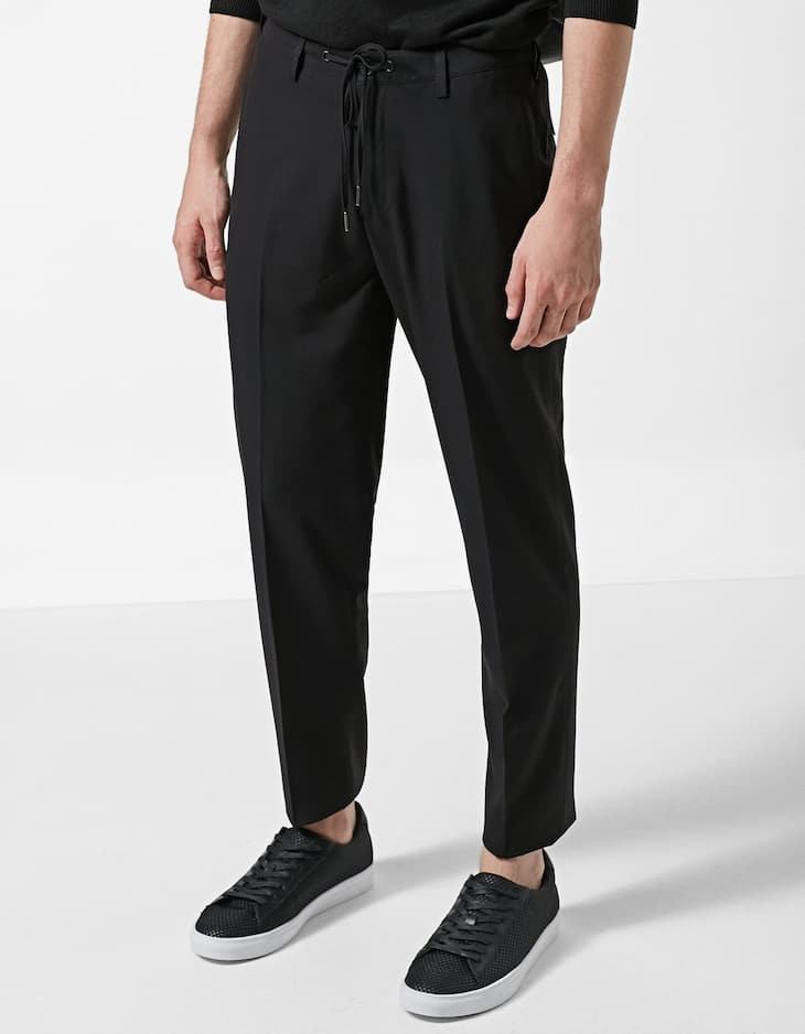 Pantalon habillé effet laine froide