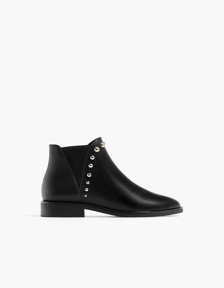 Stud Detail Ankle Boots