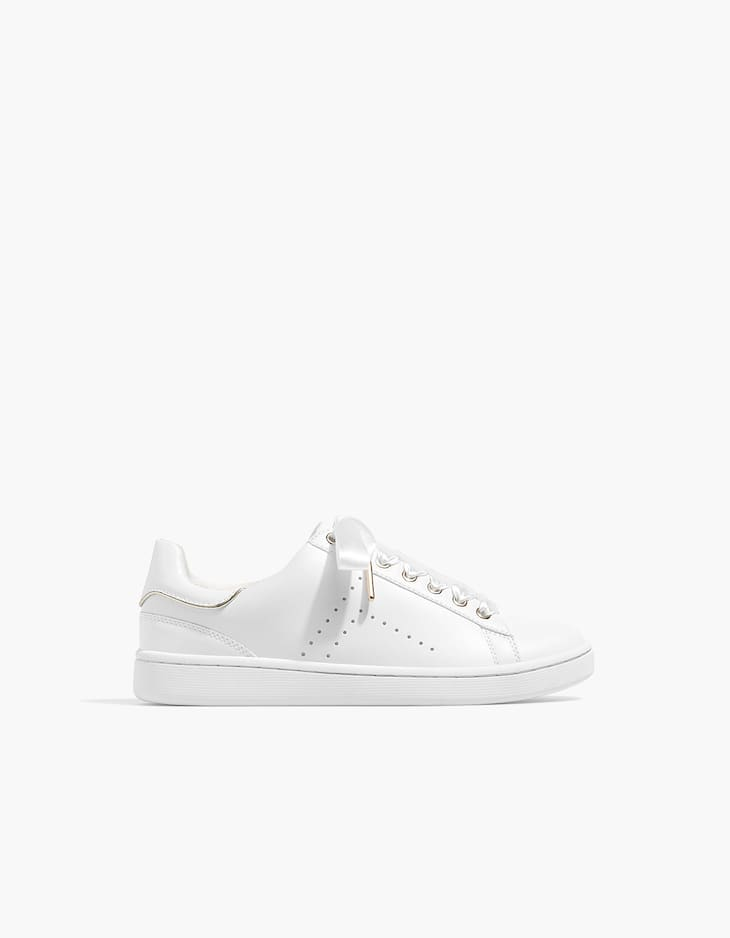 White sneakers with laces detail