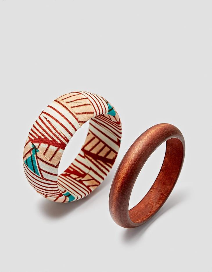 Set of 2 African bracelets