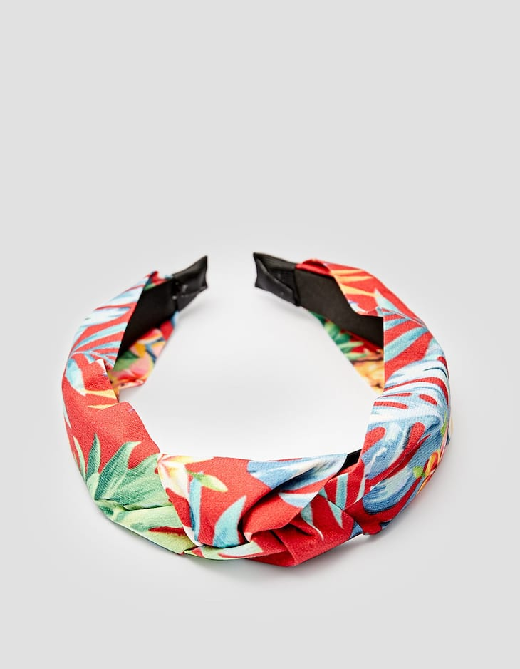 Hawaiian print rigid headband