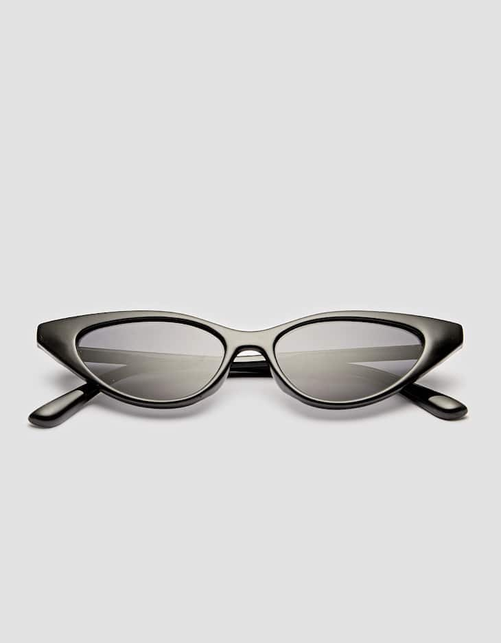 Elongated cat eye sunglasses