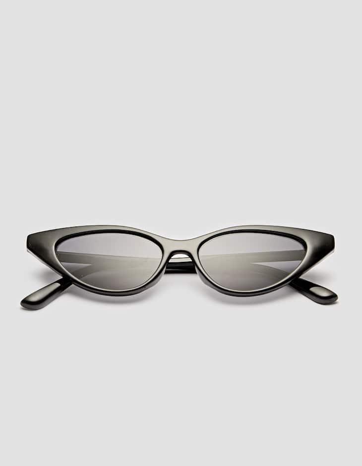 Längliche Cateye-Sonnenbrille