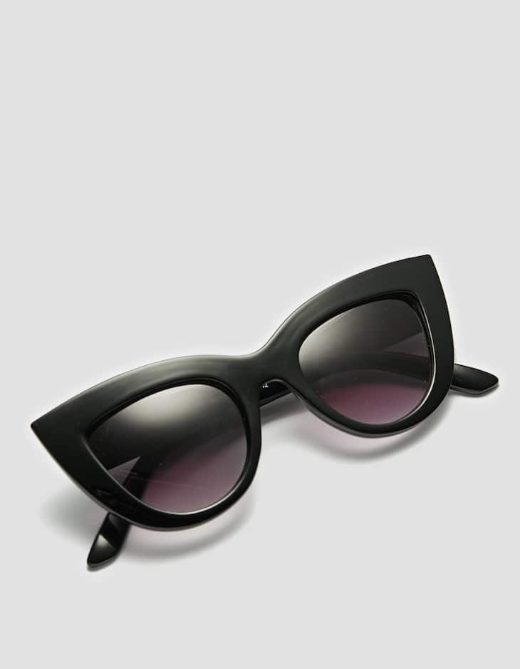 Large cateye sunglasses