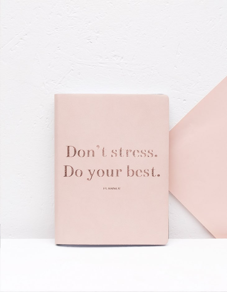 'Don't stress do your best' planner