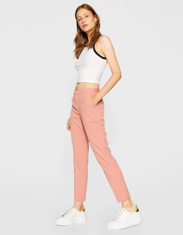 Pantalón de vestir con goma