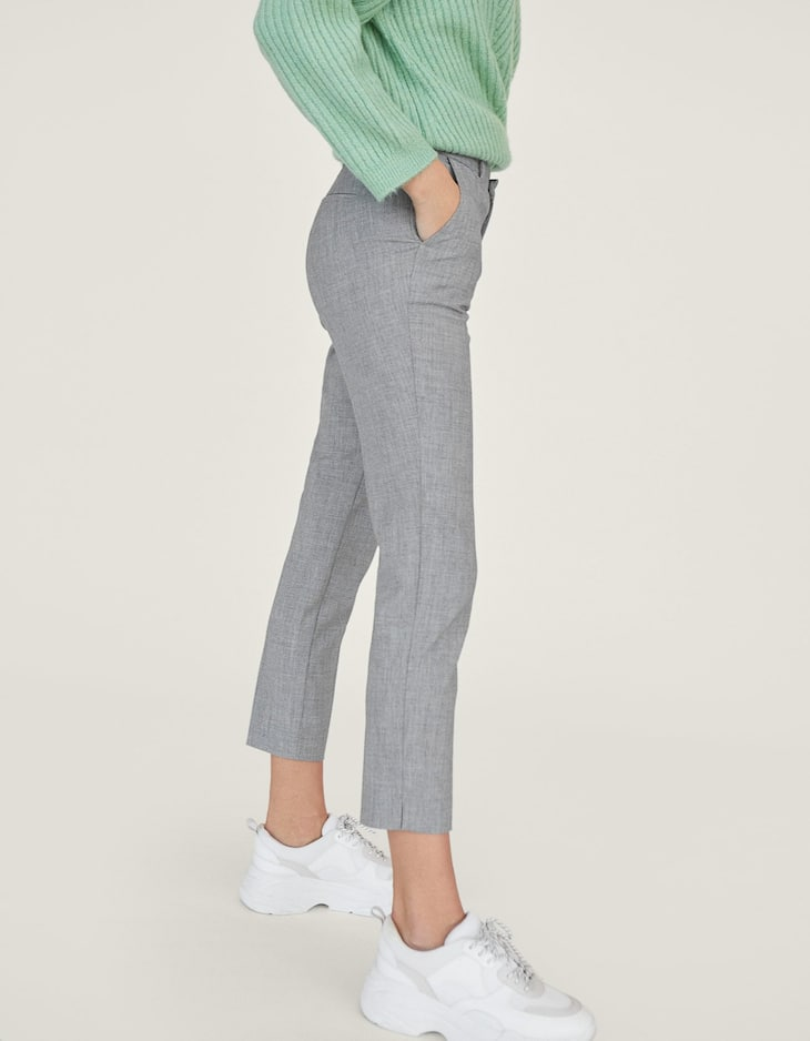 Smart trousers with stretch waistband