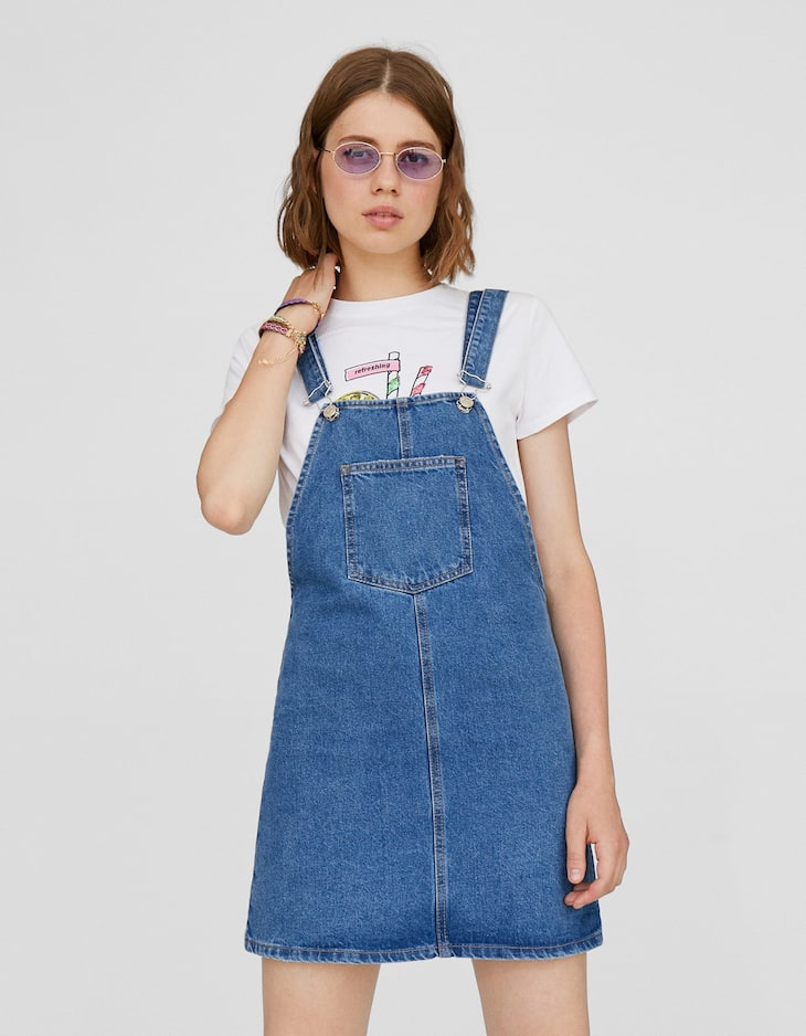 Robe-salopette denim