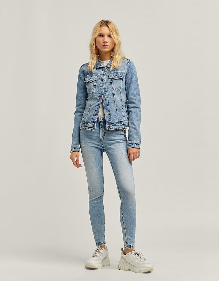 Pantalón high waist denim