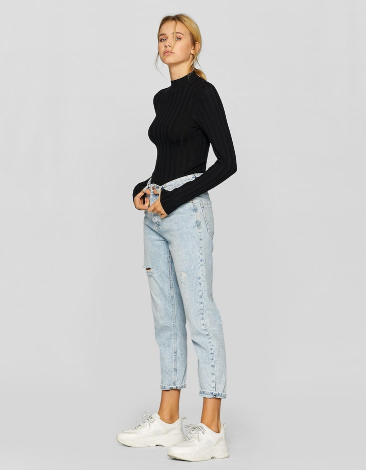 Mom fit basic jean