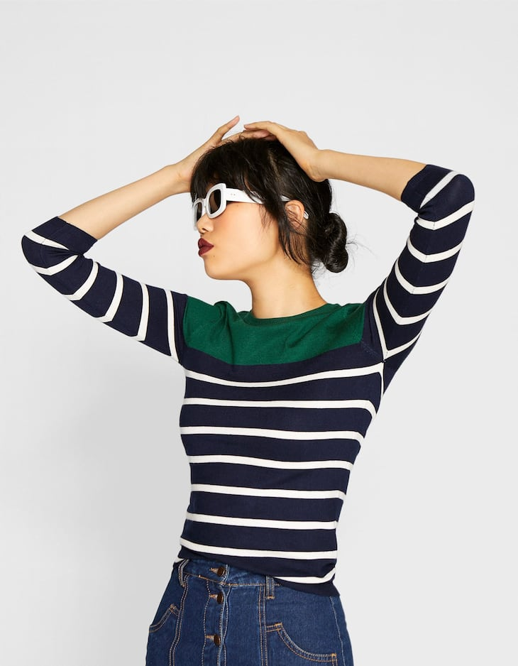 Striped fitted sweater
