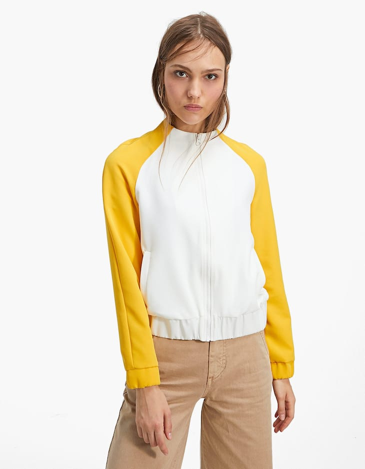 Caçadora bomber color block