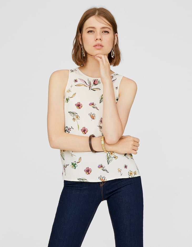 Top nedadora estampat