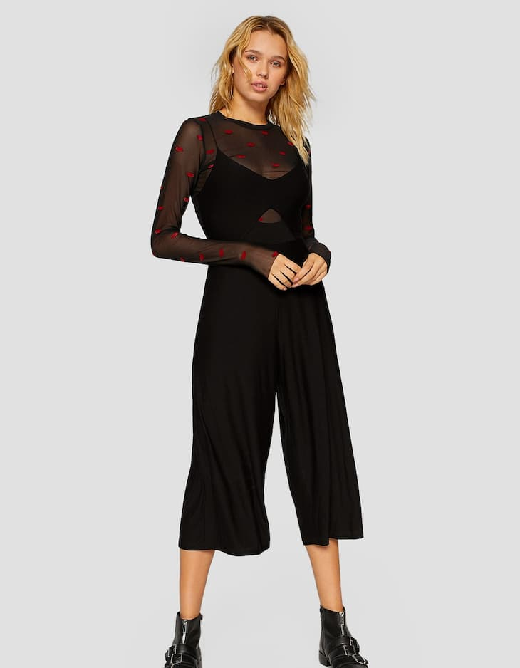Strappy culotte jumpsuit