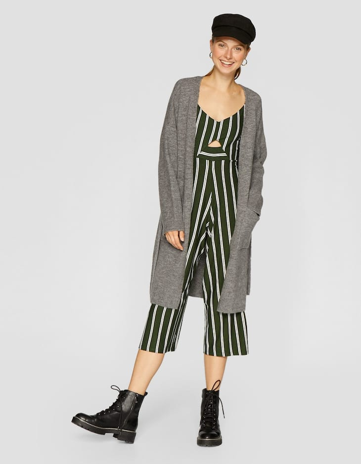 b45d2ffbcd32 Striped strappy culotte jumpsuit - Large bags