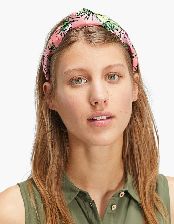 Rigid floral headband