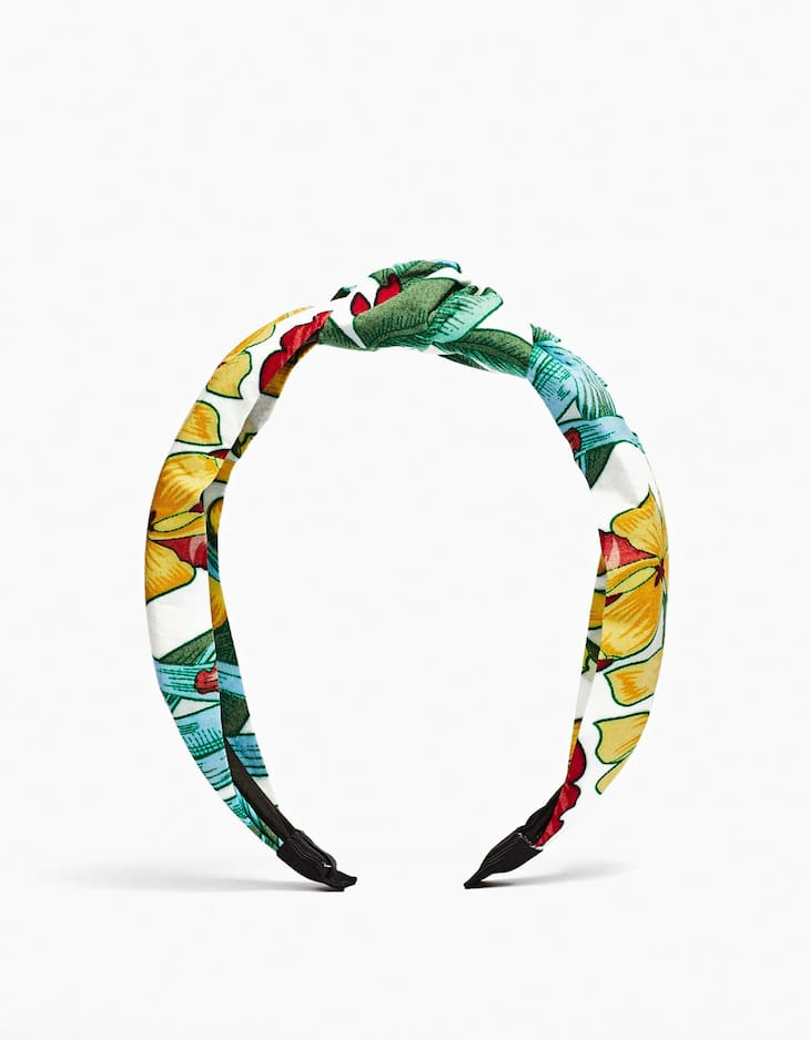 Rigid jungle print headband