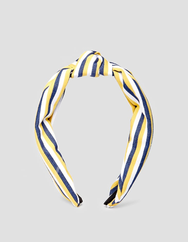 Rigid multi-stripe headband