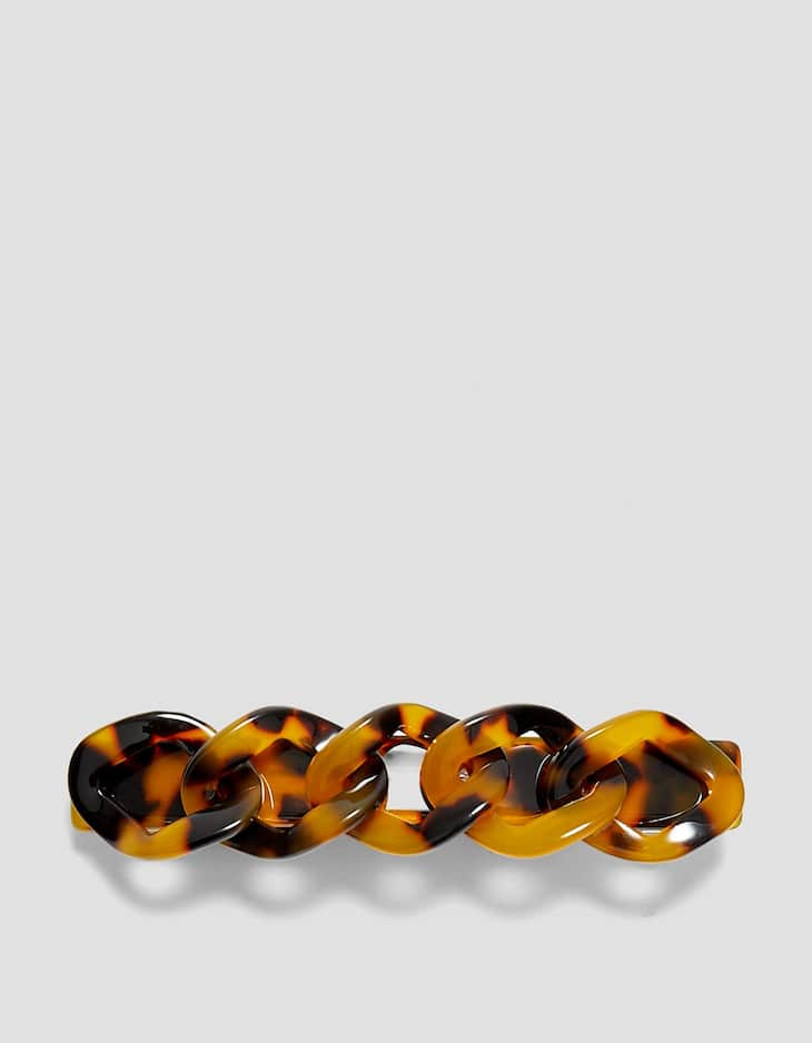 Braided tortoiseshell hair clip