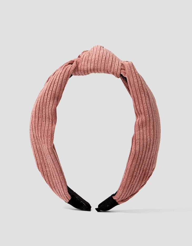Corduroy rigid headband