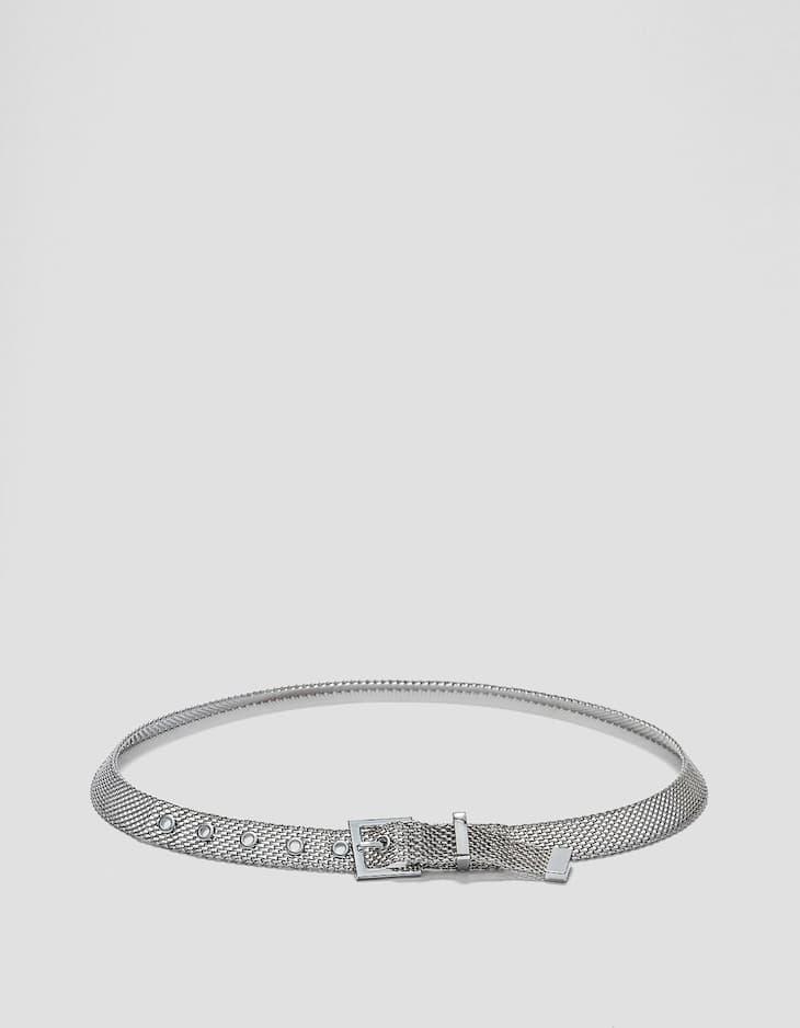 Cinturón malla metálica