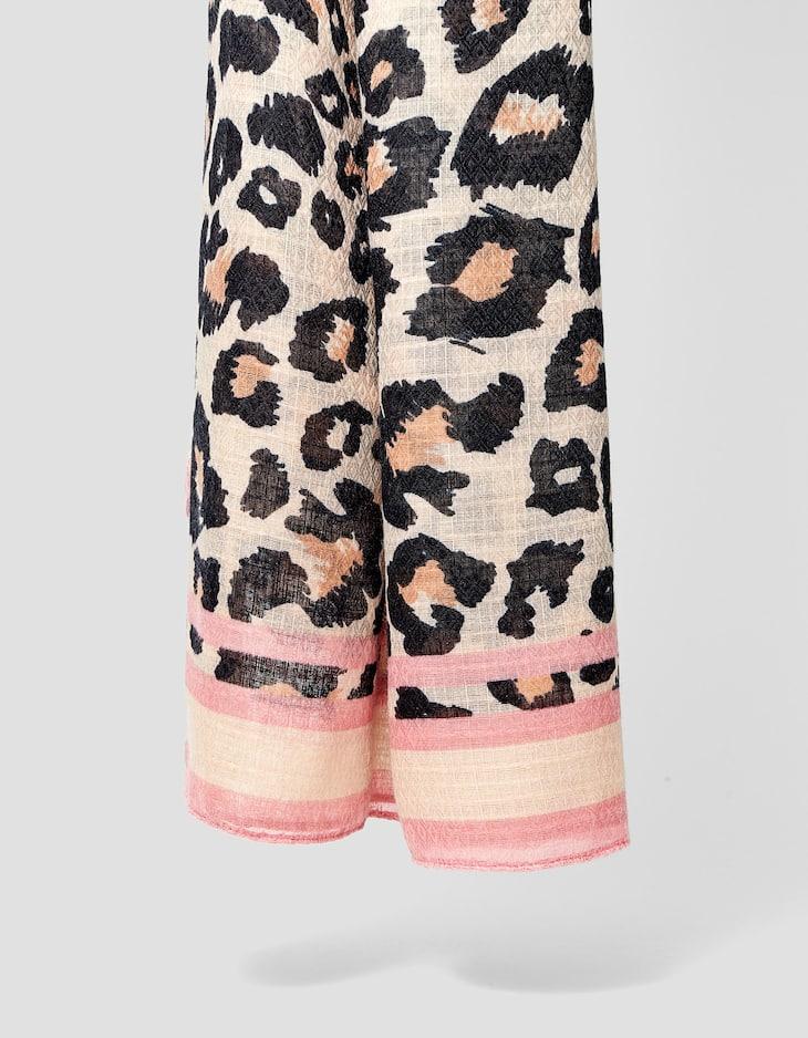 Halstuch mit Print im Leoparden-Look