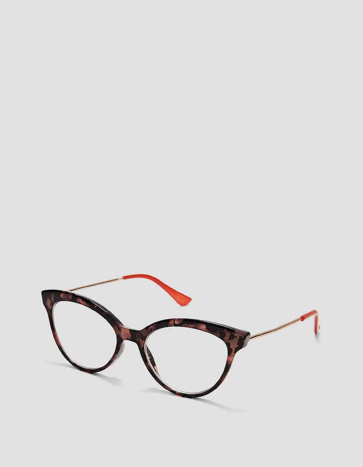 Grey tortoiseshell reading glasses