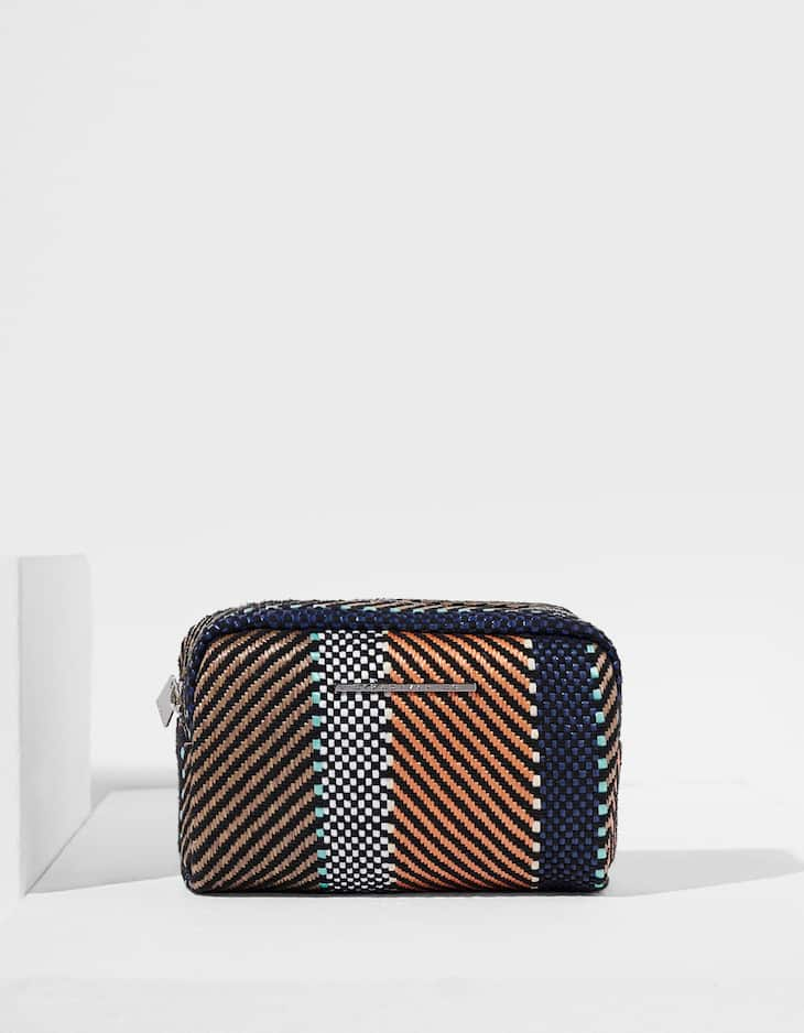 Jacquard toiletry bag