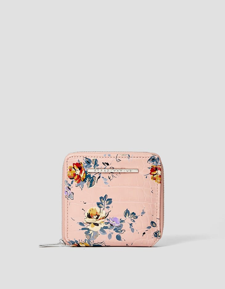 Floral square coin purse