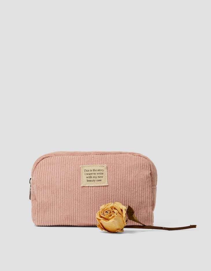 Corduroy toiletry bag