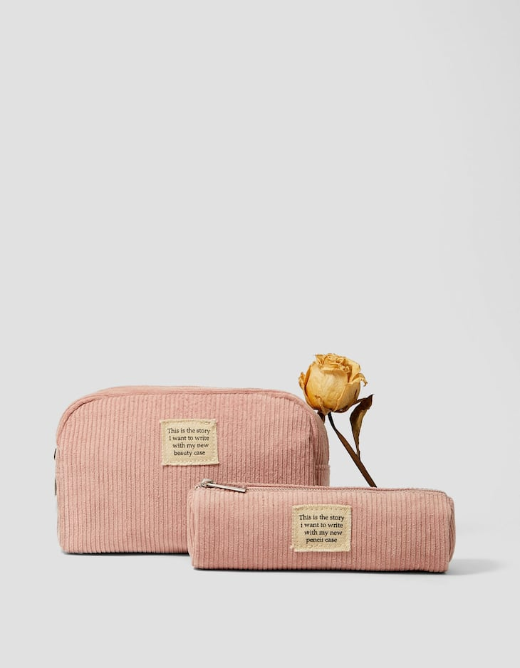 Corduroy pencil case