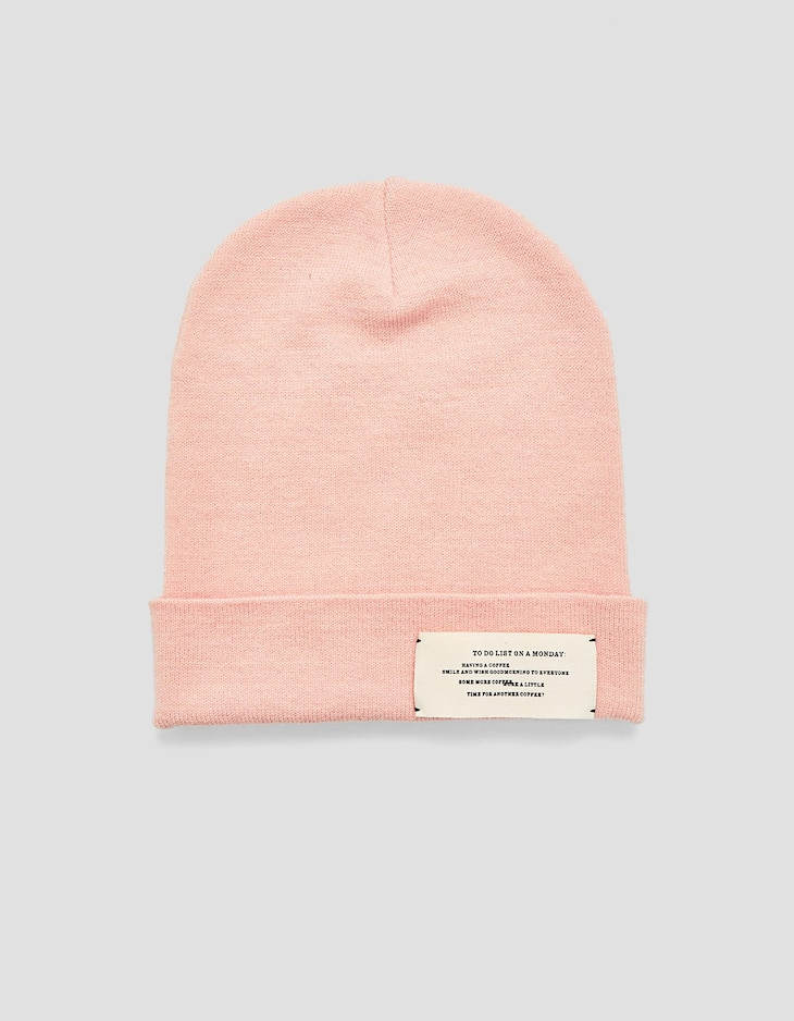 Beanie with slogan