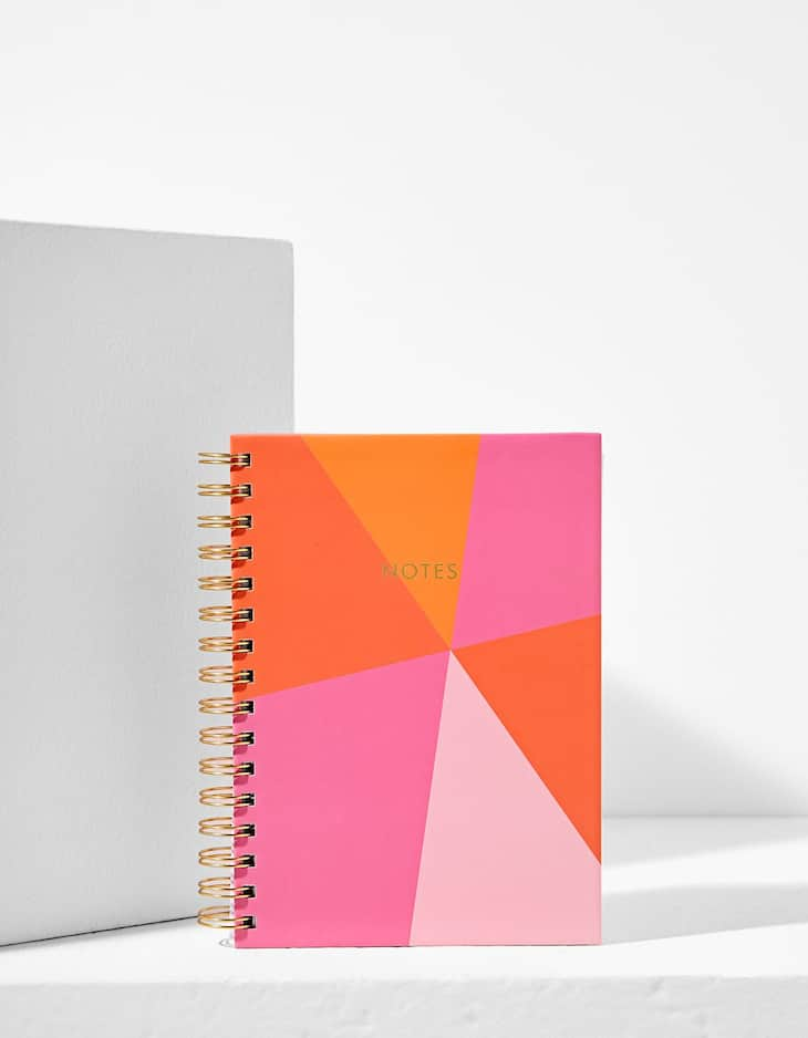Colour block notebook