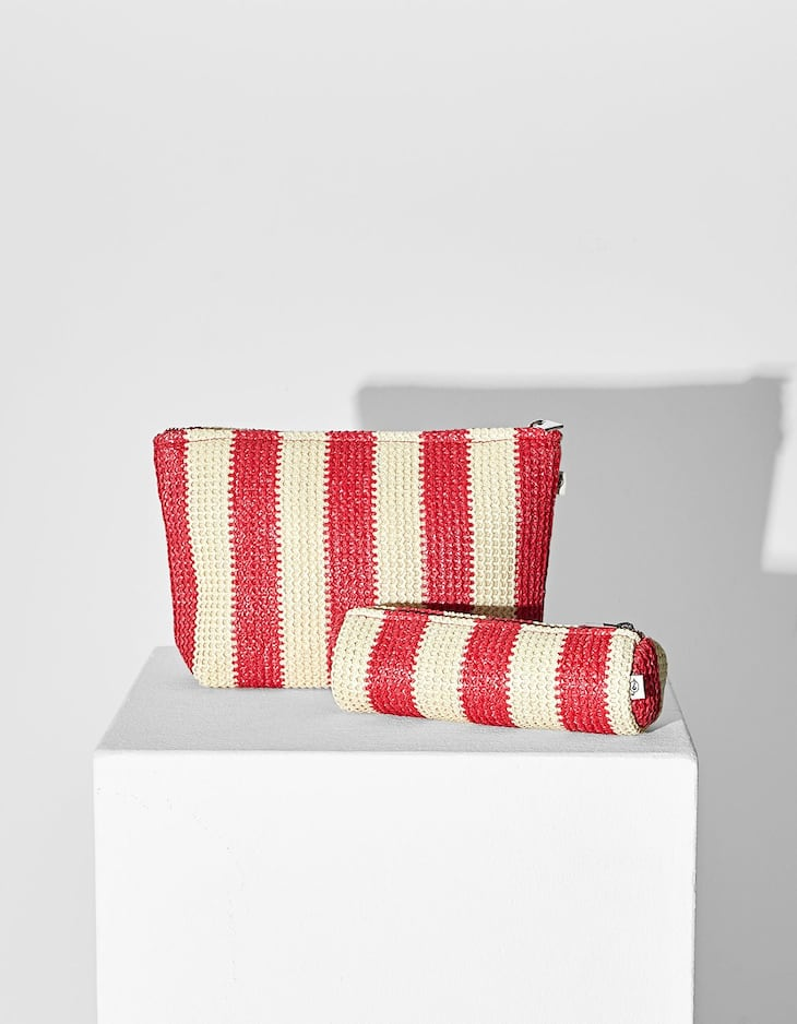 Raffia-style pencil case